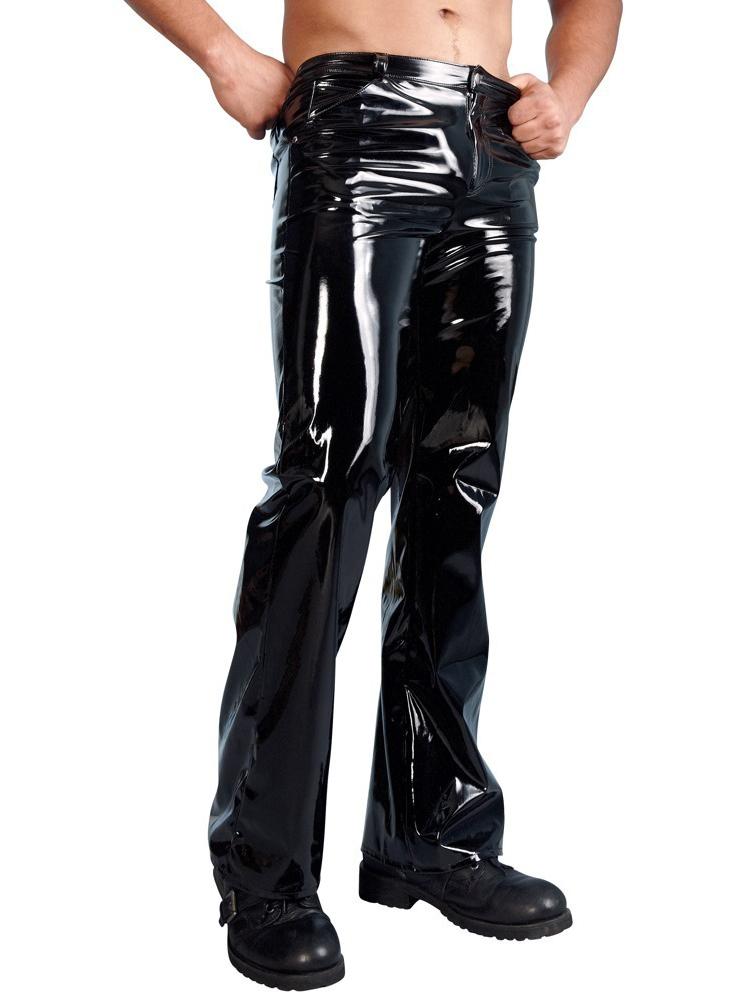 Dlouhé lakované kalhoty (pro muže)