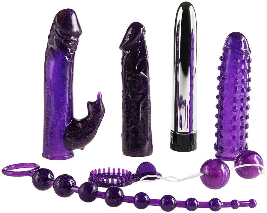 Sada erotických pomůcek Imperial Rabbit Kit Dark Purple