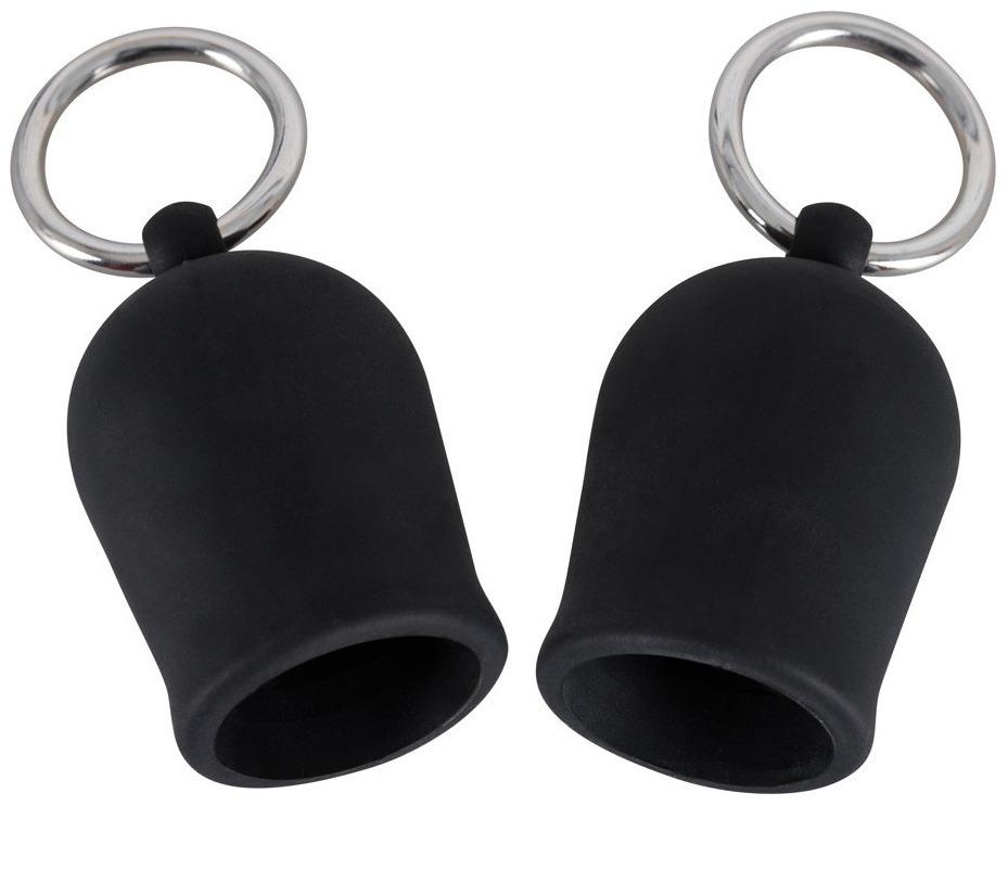 Přísavky na bradavky s kovovými kroužky Black Velvets (silikonové)