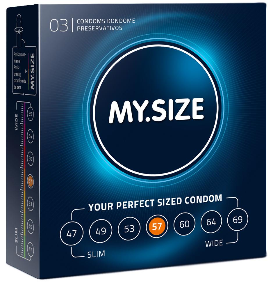 Kondomy MY.SIZE 57 mm - 3 ks