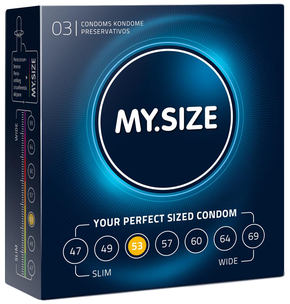 Kondomy MY.SIZE 53 mm - 3 ks