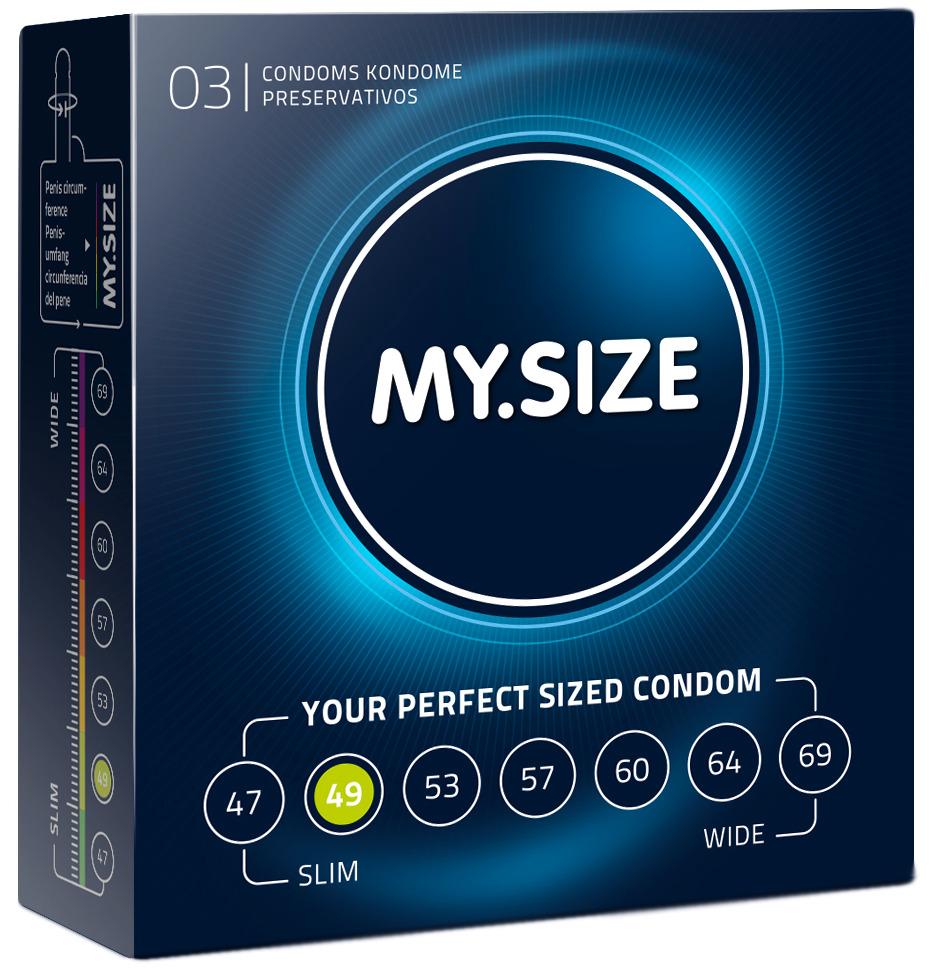 Kondomy MY.SIZE 49 mm - 3 ks