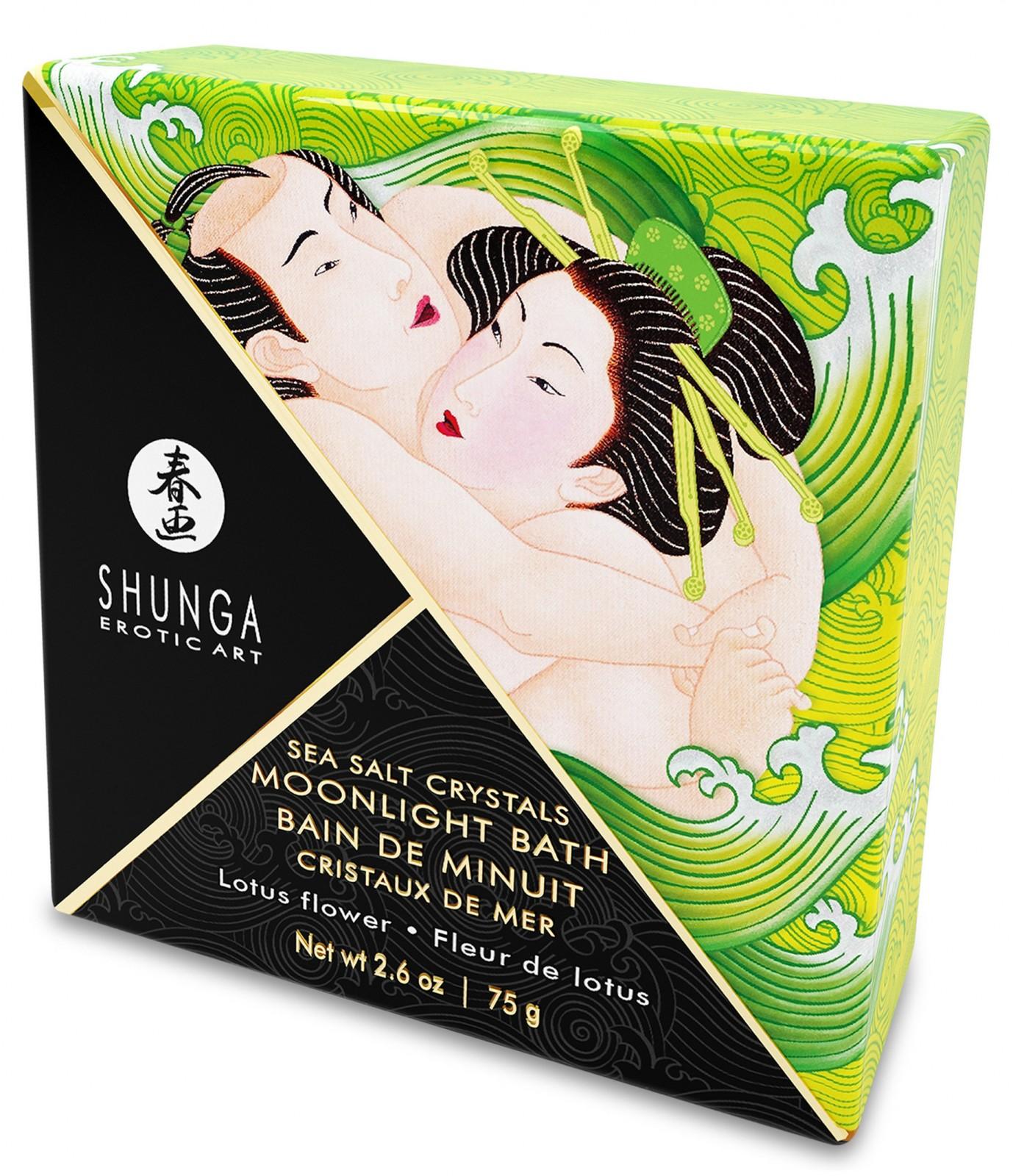 Koupelnová sůl Shunga Lotus Flower - lotosový květ, 75 g