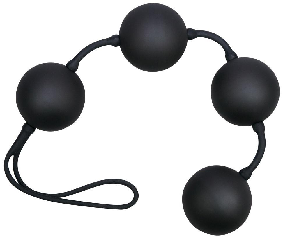 Netradiční venušiny kuličky Black Balls Velvet
