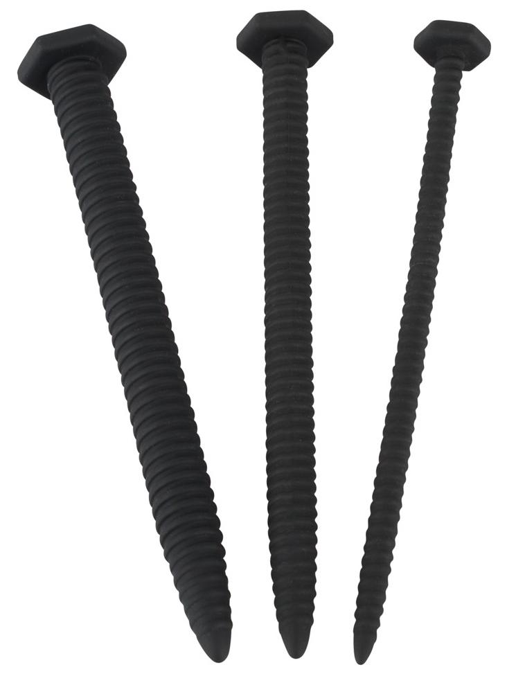 Silikonové vroubkované dilatátory Screw Dilator Set - sada 3 ks