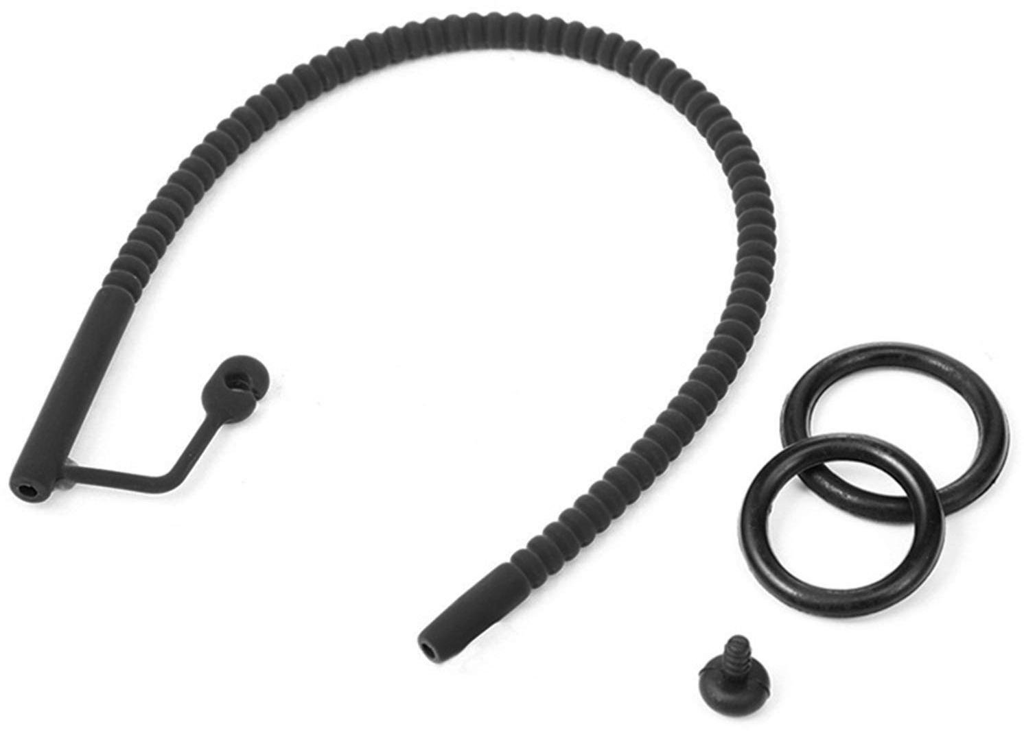 Silikonový katétr se zátkou a kroužkem na žalud (drážkovaný)
